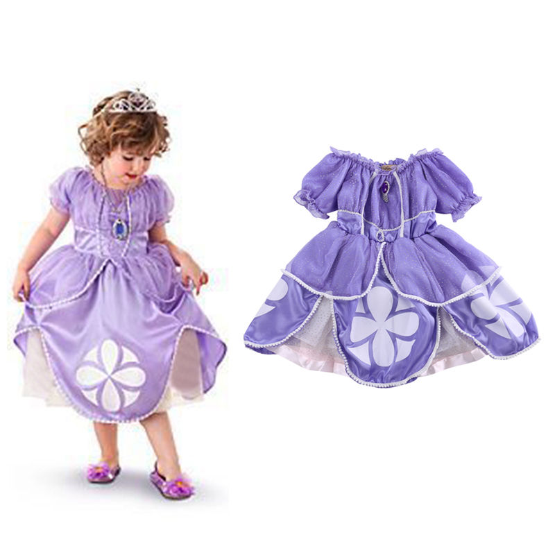 Sofia Princess Dress Kids Cosplay Costumes Girls New Arrival: Princess Sofia Costume Baby Girls Flower Party Bling