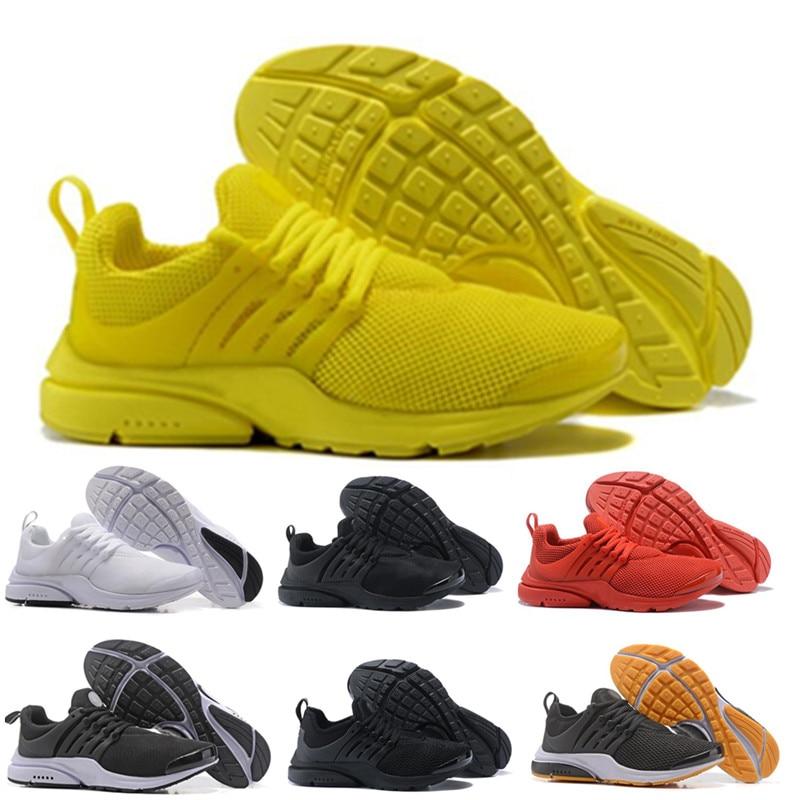 2019 TOP PRESTO 5 BR QS respirer noir blanc jaune rouge hommes chaussures Sneakers femmes chaussures de course hommes chauds sport designer chaussures