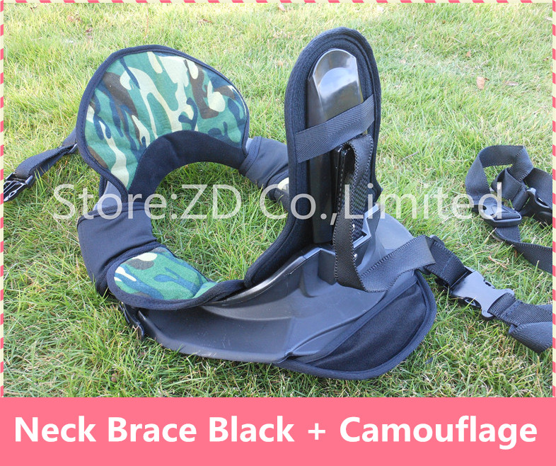 New Black + Camouflage Motocross Neck Brace Guard Around Protection Protector For Riding Racing Bicycle Motorcycle 4 Size in 1 risk racing 00 110 black motocross grip donuts with blister protection
