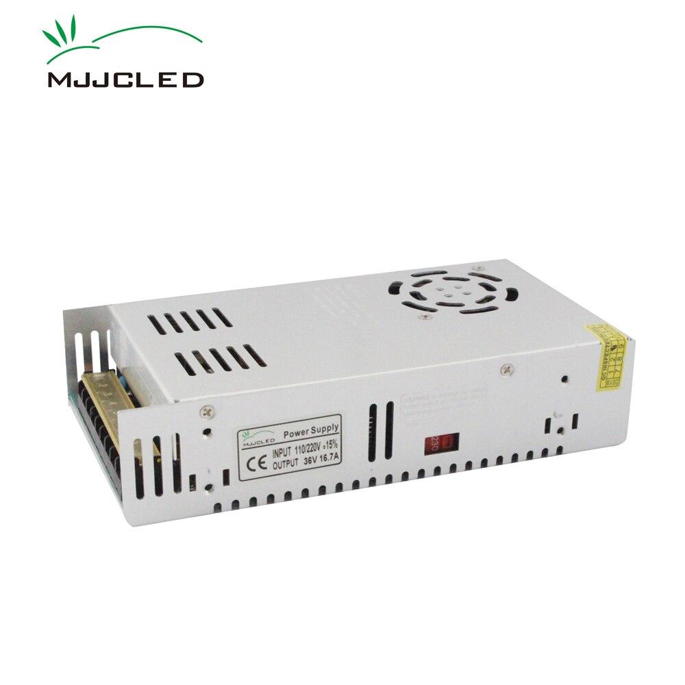 36 V 600 W alimentation 12 volts 24 volts 36 volts AC DC 12 V 24 V 48 V 220 V 110 V 100 V LED transformateur pilote 36 V unité d'alimentation