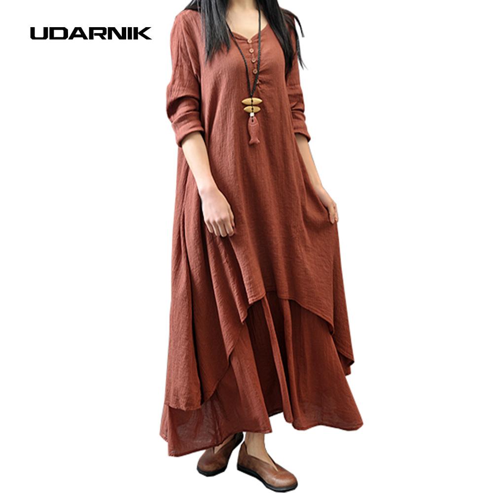 seoras de las mujeres retro tnico boho de bohemia suelta de algodn ropa de estilo chino