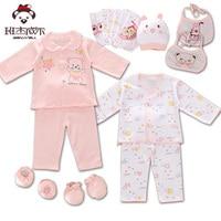 18 Pcs Lot Newborn Baby Girl Clothes Cotton Cartoon Infant Clothing Baby Boy Baby Gift Set