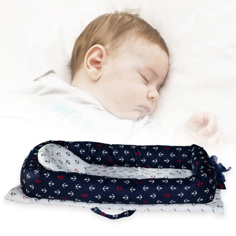 Safety portable carry bed cotton cover newborn bionic baby nest bed infantmulti-purpose crib