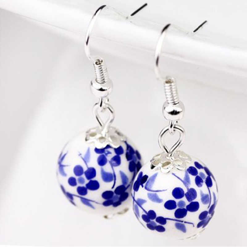 flower earrings artisan earrings lily earrings hand beaded wife gift Porcelain petal earrings hand beaded earrings porcelain jewelry