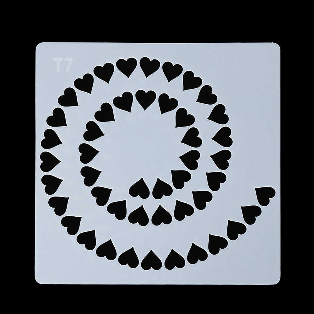 1 قطعة DIY الحرفية ماندالا المساعدة قالب استنسل سكرابوكينغ ألبوم طوابع ديكور النقش ورقة بطاقة قالب للجدران اللوحة