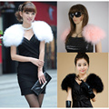 LIYAFUR New Women's Real Genuine Soft Ostrich Fur Wedding Cape poncho stole shawl Pashmina
