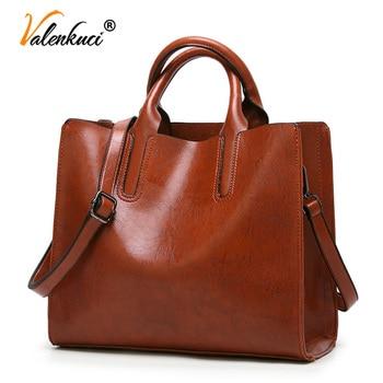 Valenkuci Leather Handbags Women Bag High Quality Casual Female Bags Trunk Tote Famous Brand Shoulder Bag Ladies Bolsos 1