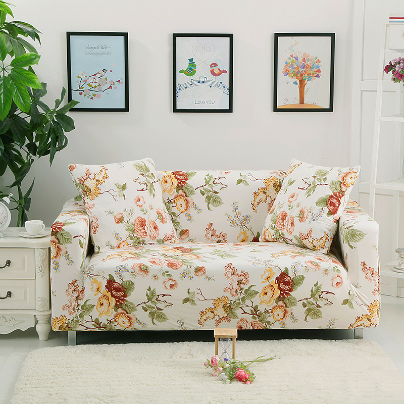 Universal Sofa Cover Elastic 100% Polyester Fabric Cover Sofa Single Double  Three Four Size Corner Sofa Cover/stretch Sofa Cover
