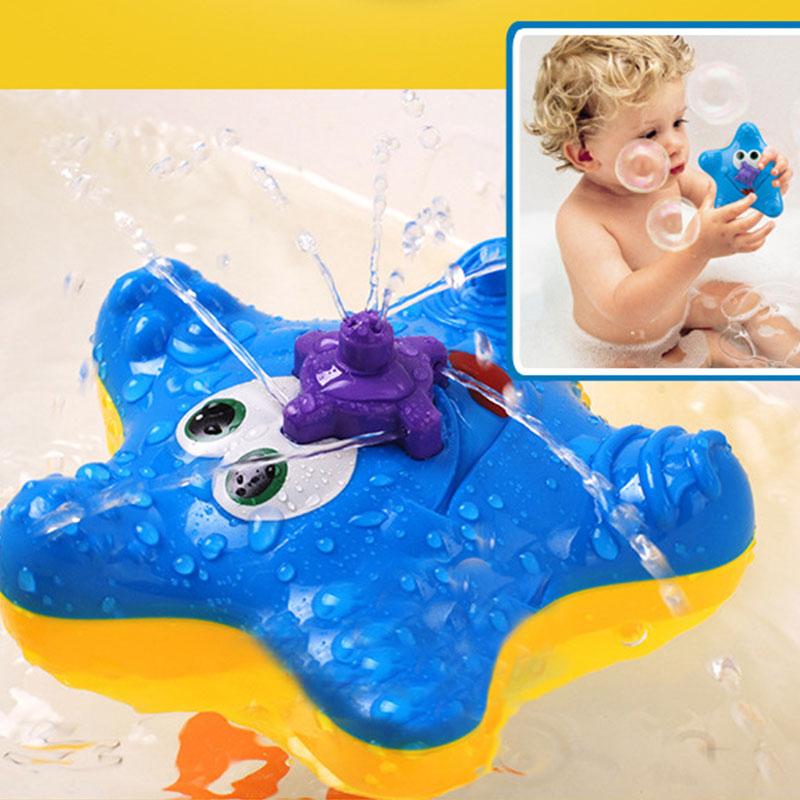 Electronic Starfish Bathing Bathtub Toys Kids Rotation Squirter Accessories