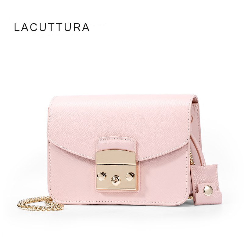 Lacattura Famous Brand Design Women Chic Messenger Bag High Quality Genuine Cow Leather Fula Small Shoulder With Lock In Bags From Luggage
