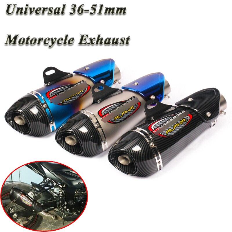 Moto universelle Yoshimura échappement de tuyau d'échappement modifié 51mm silencieux DB tueur autocollant pour R3 Z900 GSX750R K8 R6 ATV CBR500R