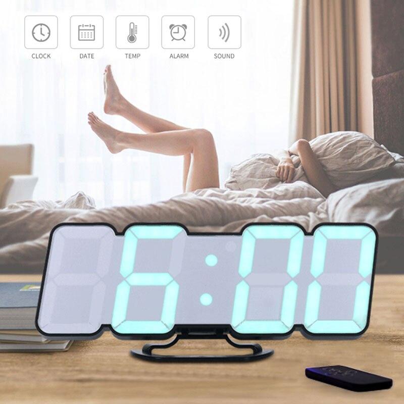 Stimme aktiviert Farbe 115 Drahtlose Fernbedienung LED Remote Temperatur Wecker Kreative Schlafzimmer Stumm