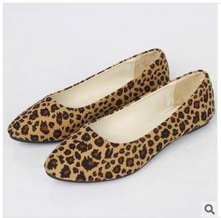 4d2cc6affb32 Soda Shoes Women Casual Ballet Flats Tan Cheetah Leopard Print Fur Insole