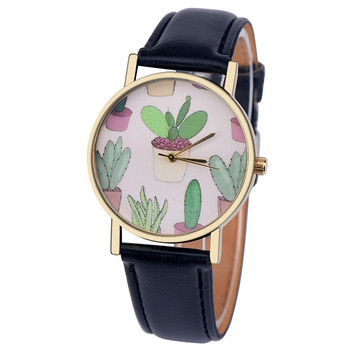 Nuevos relojes de pulsera Vogue de Cactus para mujer 2018 de marca de lujo de moda redonda Popular reloj de pulsera femenino de cuarzo reloj de mujer # W