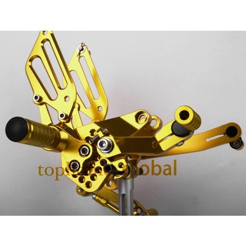 Gold Motorcycle Parts CNC Rearsets Foot Pegs Rear Set For DUCATI 999 949 749