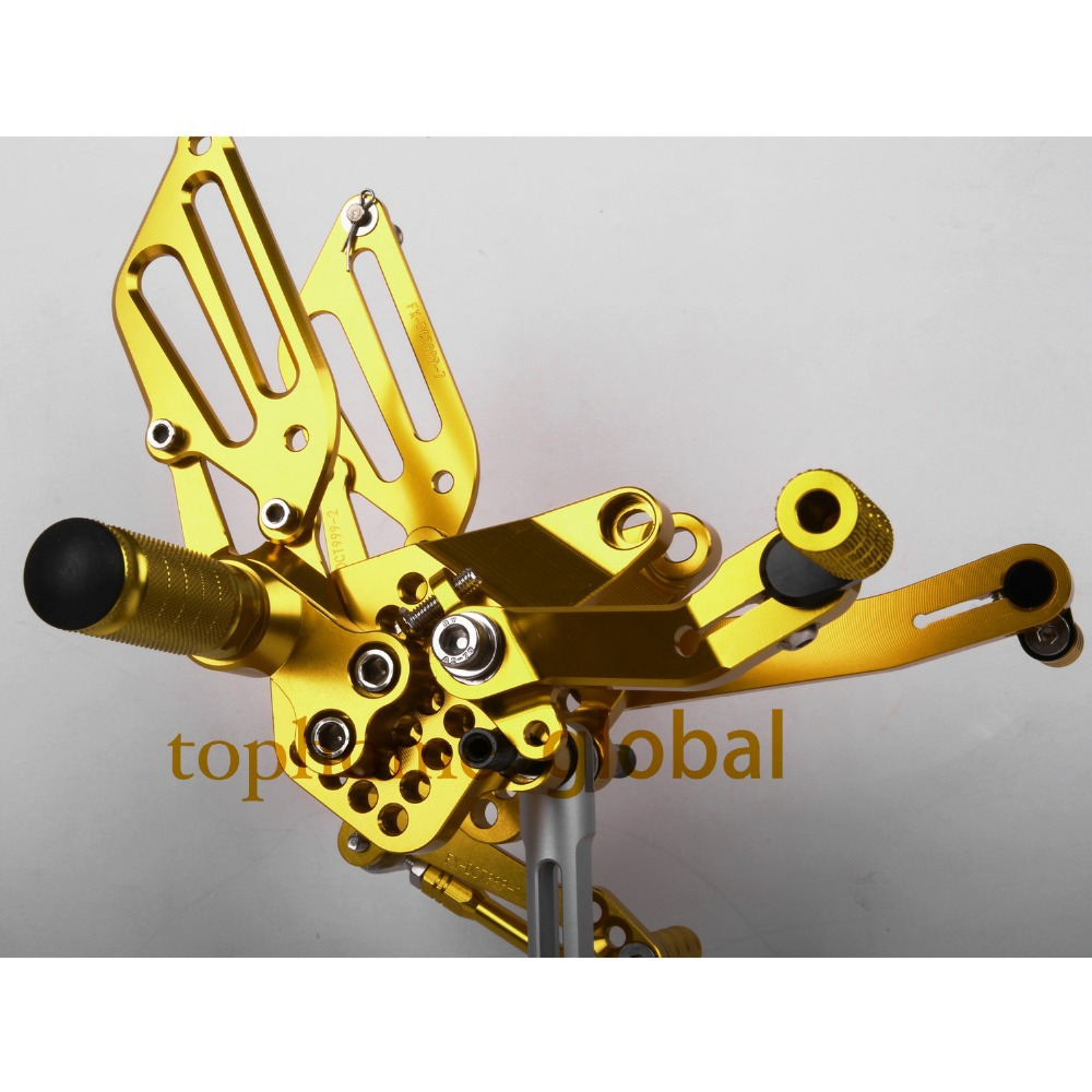Golden color Motorcycle Parts CNC Rearsets Foot Pegs Rear Set For DUCATI 999 949 749
