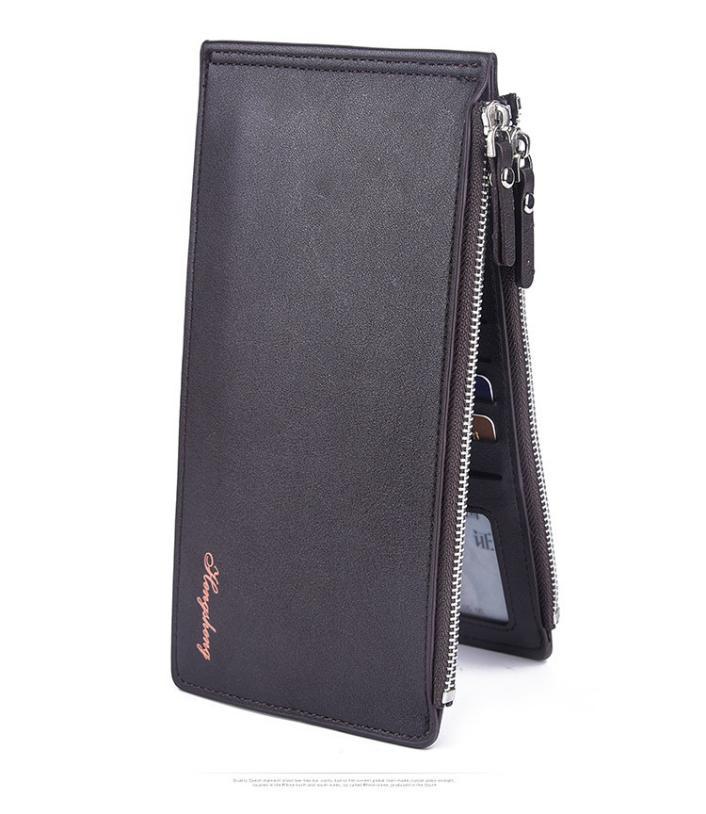 MOLAVE wallets wallet male Solid card holder Zipper Men Leather Card Cash Receipt Holder Ultra-Thin Wallets Purse Feb12