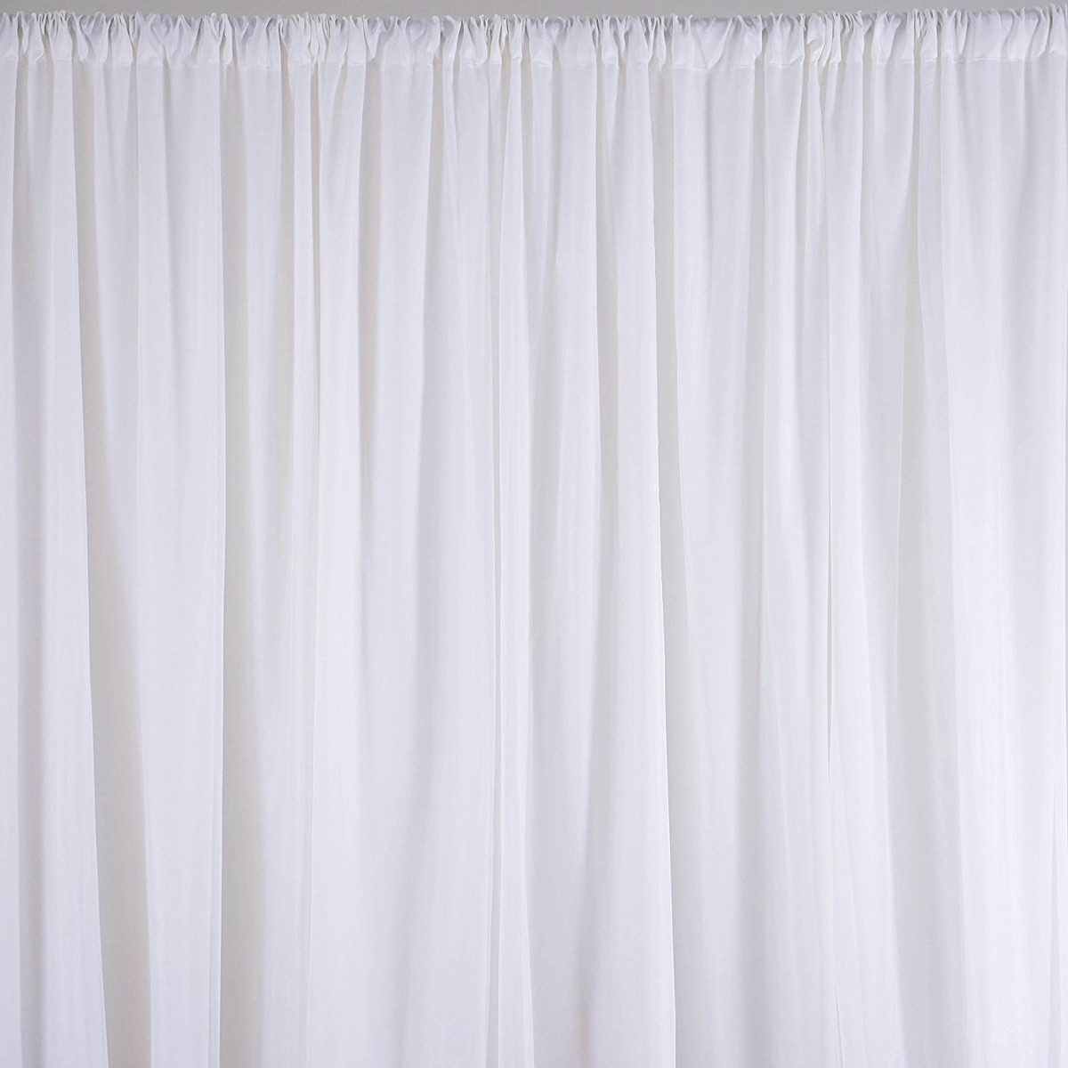 Hanging White Sheer Silk Drapes Panels Curtains 2.4x1.5M Photo Backdrop  Wedding Party Events