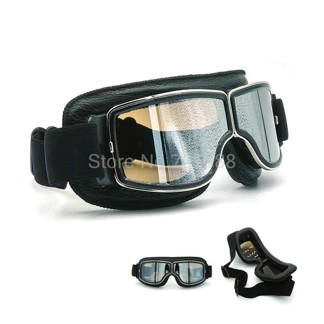 New Outdoor Windproof Glasses Leather Goggles Dustproof Glasses Men Motocross Riot motorcycle goggles for SR400D S4D WR250