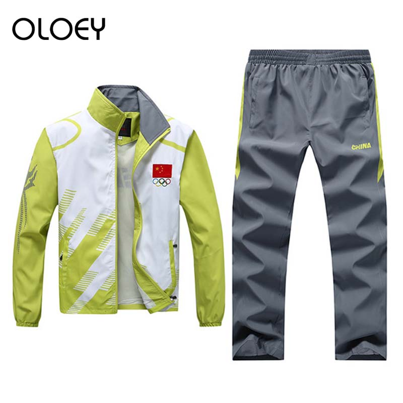 Olympic Tracksuit Men Summer Sport Suits Teenager School Track Suits Jogging Male Set Running Sweat Suits Training Tracksuit