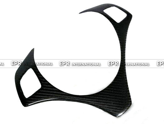 Carbon Fiber Steering Wheel Trim Fibre Cover Garnish Fit For BMW E90 Car Styling epr car styling for mazda rx7 fc3s carbon fiber triangle glossy fibre interior side accessories racing trim