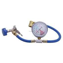 R134A Air Conditioning Recharge Measuring Hose Gauge Valve Refrigerant Pipe