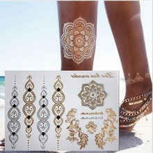 temporary tattoo Gold tattoo Flash tattoos women arm body art sticker sex products bod tatto tatoo