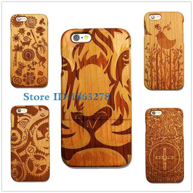 the latest d4fd6 15f15 Gear Design Tiger King Totem Original Bamboo Wood Phone Case For Iphone 7  7Plus 6 6S Plus 5 5S SE Tree Branch Birds Wooden Cover