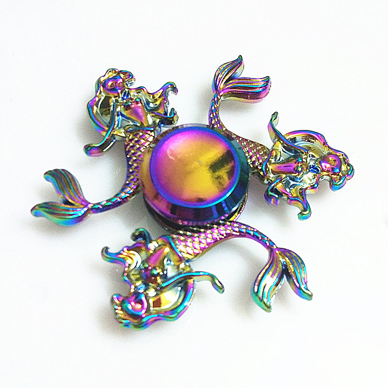 043 High Quality Fidget Spinner Metal Rainbow Dragon Hand Finger Spinners Autism ADHD Focus Anxiety Relief Stress