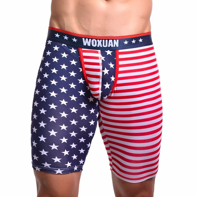 feitong American Flag Sexy Striped Male Home Men's Boxer Shorts Bulge Pouch
