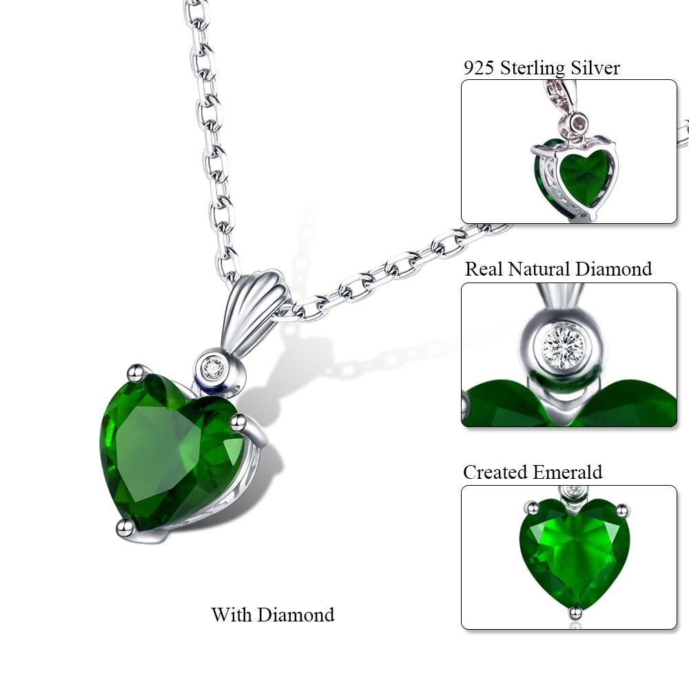 Dvojno-R 925 Sterling Silver Emerald Ogrlica Sapphire Privjesak Ruby - Fine nakit - Foto 2