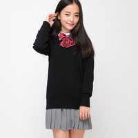 Spot Japanese Campus JK Uniform Students Knitted V neck Suit and Sweater Uniform Pure Cotton Sweet Lolita