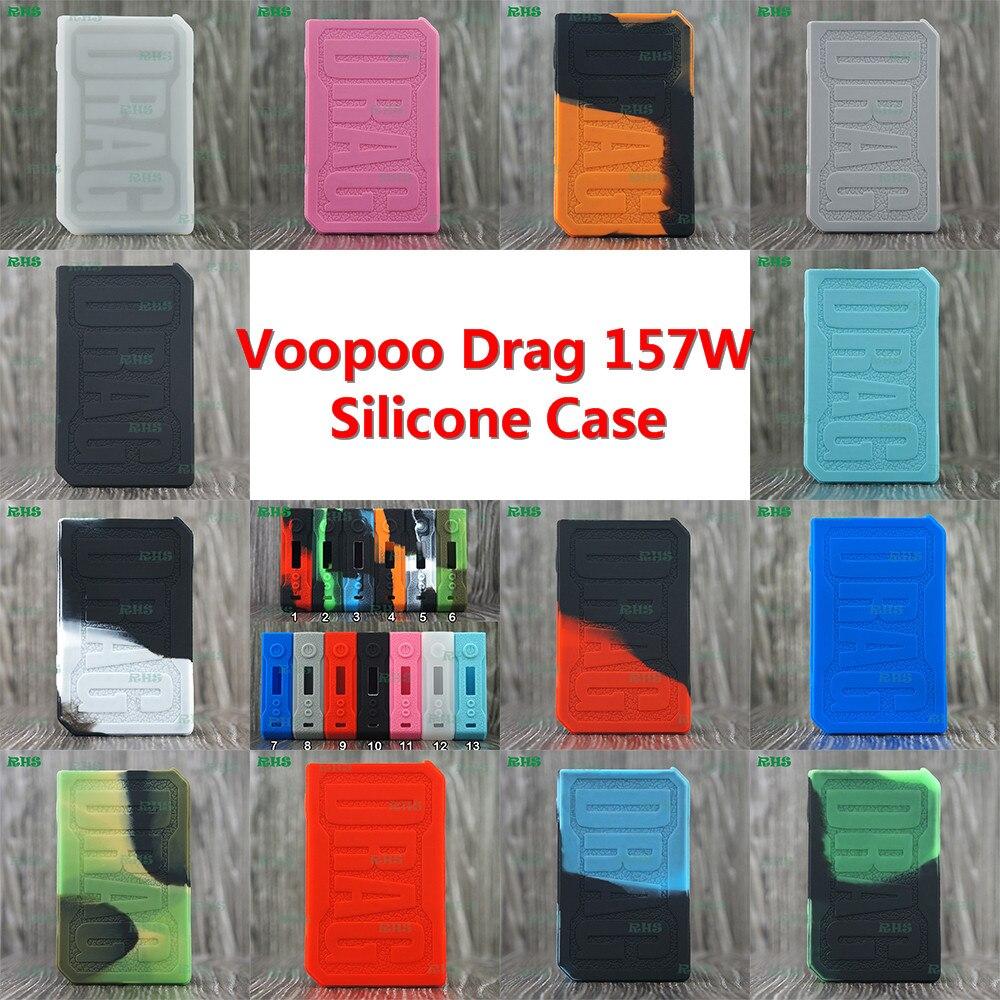 RHS 100% Food grade Silicone Caso per Voopoo Trascinare 157 W Dual più spessa della pelle della copertura della protezione per 18650 Batteria MOD | TC/VW mod caso