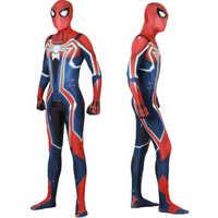 Gioco PS4 Velocità Spider Costume Cosplay Zentai Spider Superhero Body Vestito Tute e Tute da Palestra