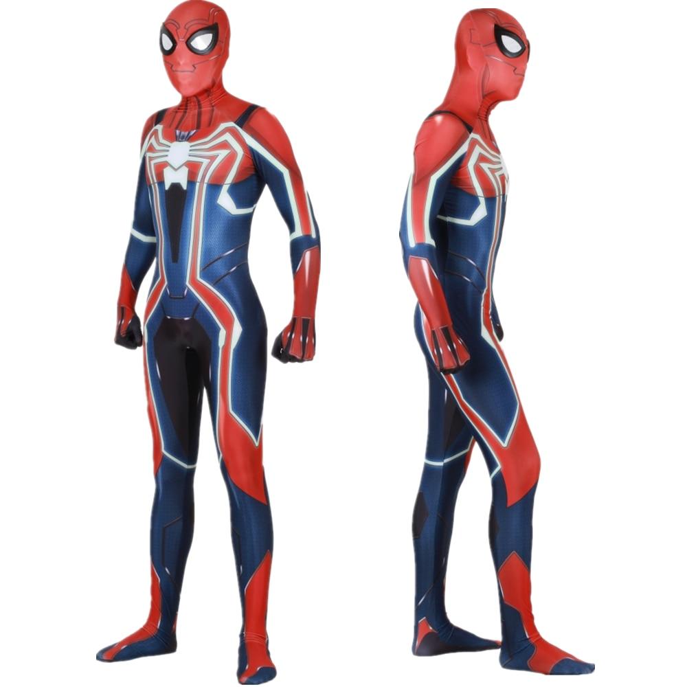 Jogo ps4 velocity spider cosplay traje zentai spider superhero bodysuit terno macacões Fantasias de filme & TV     - title=