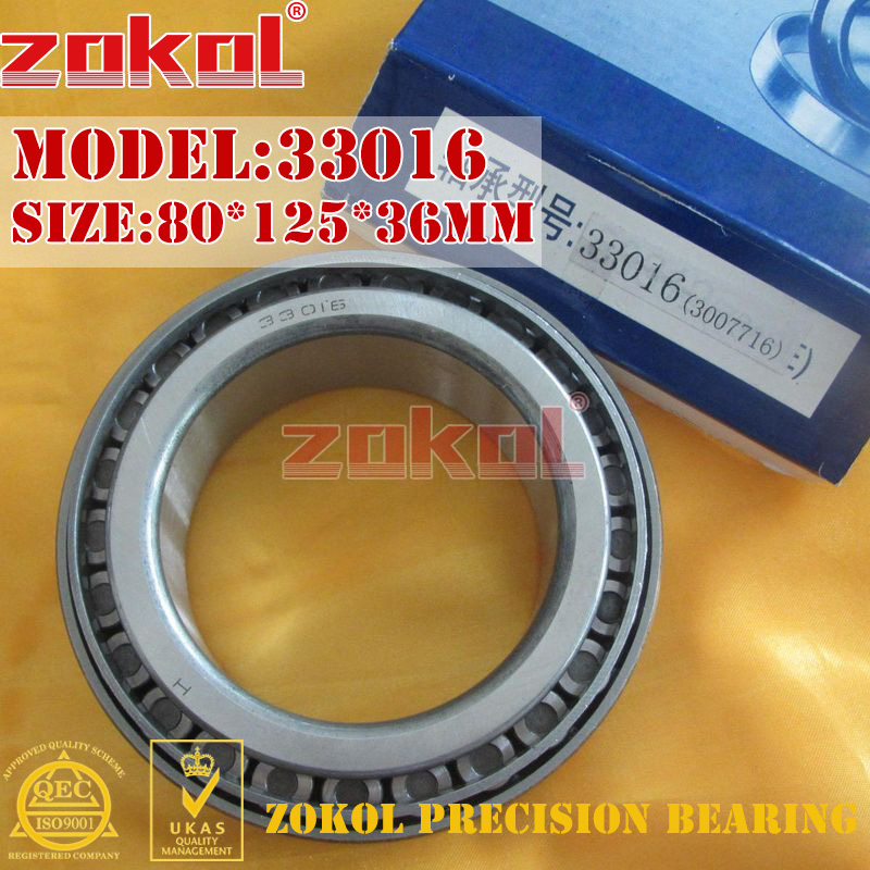 ZOKOL bearing 33016 3007116E Tapered Roller Bearing 80*125*36mm na4910 heavy duty needle roller bearing entity needle bearing with inner ring 4524910 size 50 72 22