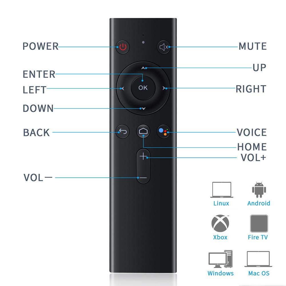 Calvas Q8 Air Mouse Wireless Accessories Electronic Bluetooth Sensitive Intelligent Voice Smart TV Keyboard Remote Control Home