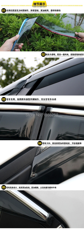 Авто дождь щит окно козырек, окно дефлектор солнцезащитный козырек для Mazda 3 AXELA,4 шт./компл