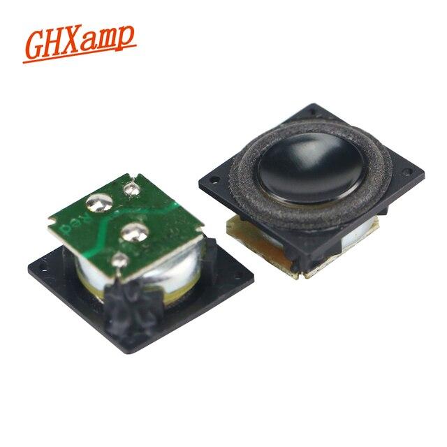 GHXAMP 18mm Mini Full Range Speaker Bluetooth Speaker DIY 4Ohm 2W  Boombox Radio Computer Tweeter MId Bass Loudspeaker 18*18mm 1