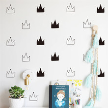 Cartoon Crown Pattern Wall Stickers Self-adhesive Removable DIY Art Decal for Children Room Home Decoration Nordic Style