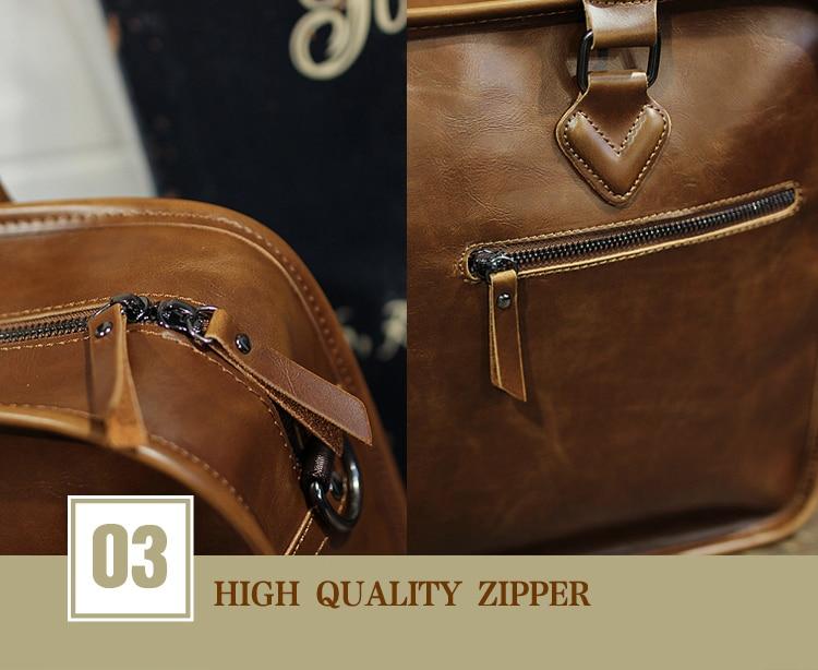 HTB1wG68vKuSBuNjSsziq6zq8pXa8 Brand Crazy Horse PU Leather Men Briefcase Vintage 13 inch Big Business Laptop Handbag Fashion Brown Messenger Shoulder Bag Man
