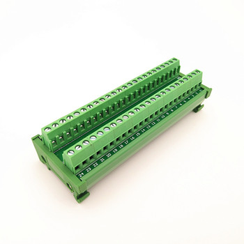 DIN Rail Mount 2x16 Position Screw Terminal Block Power Distribution Module