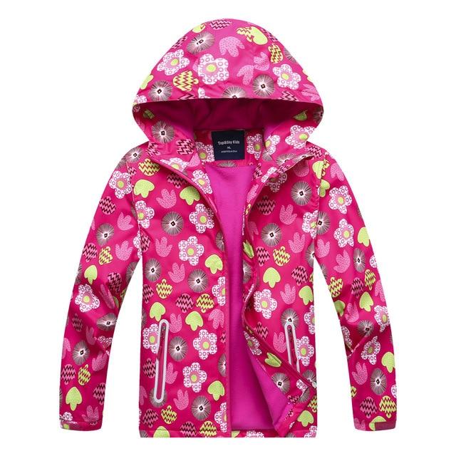 0e39a0bdd Girls Outdoor Autumn Winter Jacket For 4-12Y Children Hoodies Waterproof  Windproof Raincoat Kids Outerwear