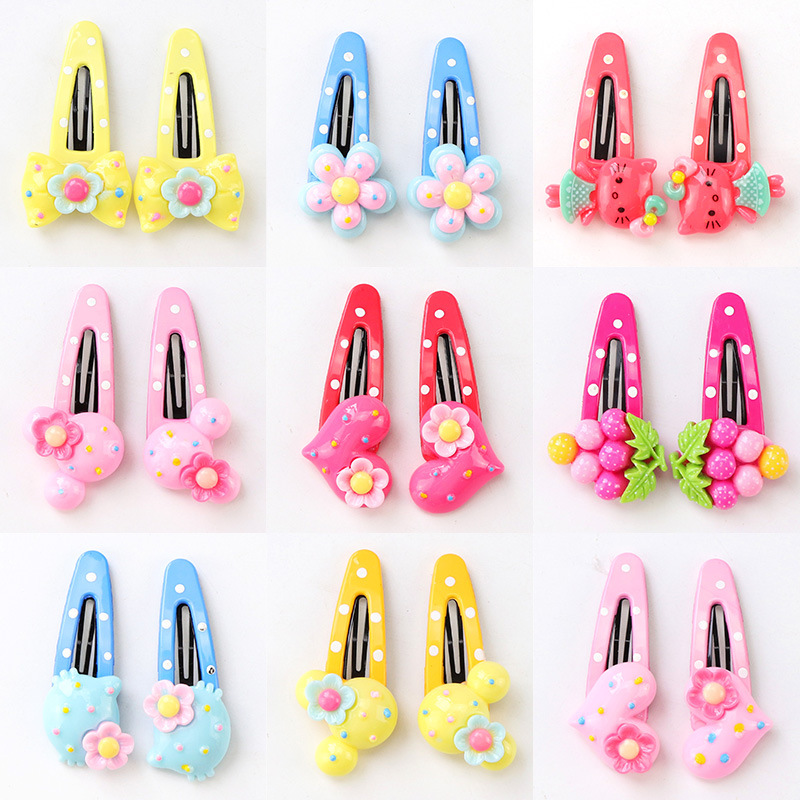 Fashion Girls Hair Clips Cartoon Fruit Barrette BB Hairpins Children Hair Accessories Snap Band Hairpin lysumduoe headband black hairpin women clip s shape barrette girl hairgrip hairgrips children hairpins jewelry hair accessories