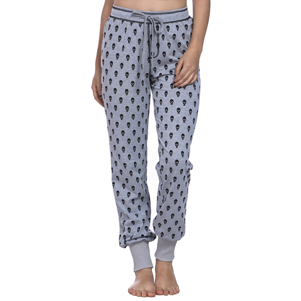 2018 Women Pants Casual High Waist Leg Long Pants Trousers Skull Printed Pajama Pants At Home Drop Shipping