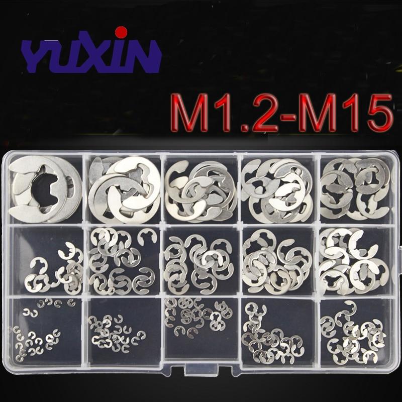 15mm DIN 6799 Clip Circlip Various Sizes E Clips External Black Steel 2.3mm