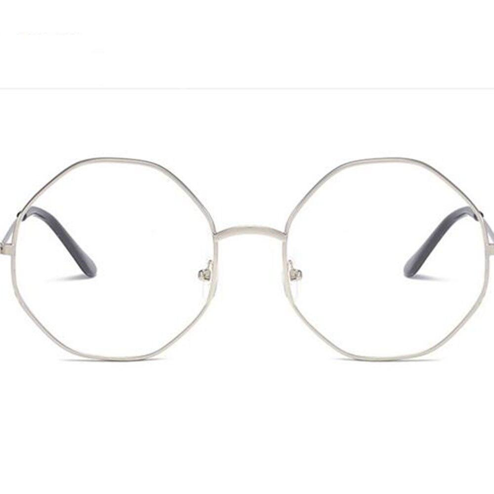 b31bb72093 Fashion Irregular Women Men Large Oversized Metal Frame Clear Lens Round  Circle Eye Glasses optical glasses frame for ladies-in Eyewear Frames from  Apparel ...