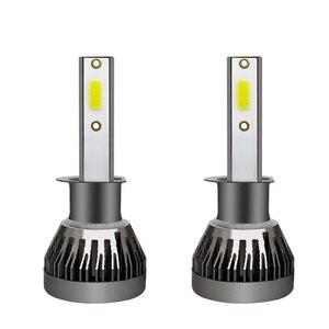 Image 2 - Kingsofe farol de carro 2x led, h4 h7 h1 h11 9006 9005 9012, kit de conversão de farol de carro com iluminação de 360 graus lâmpada 90w 12000lm