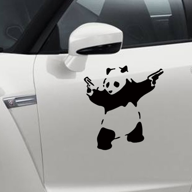 Wall stickers cartoon cute panda carved wall post of children room decorate car decorative stickers on the wall