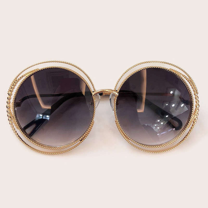 Image 5 - New Style Round Sunglasses Women Luxury Brand Designer Big Metal Frame Sun Glasses Female Shades 2019 Fashion Outdoor Eyewear-in Women's Sunglasses from Apparel Accessories